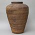 灰陶印文大壺