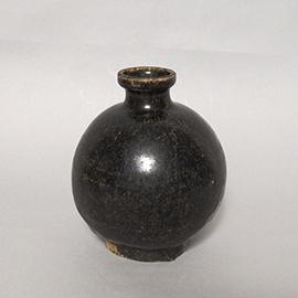 黒釉(黒高麗)丸徳利