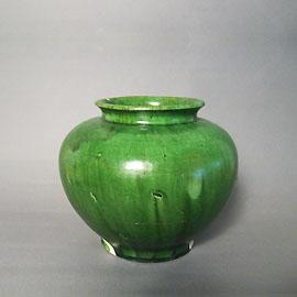 緑釉万年壺