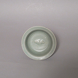 龍泉窯青磁魚文小盤