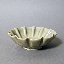 耀州窯十二輪花鉢